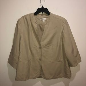 Coldwater Creek Beige Blazer 20-22 Silk Jacket